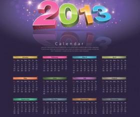 2013 Creative Calendar Collection design vector material 03