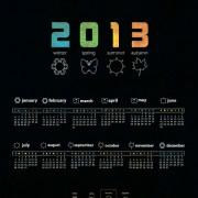 Link to2013 creative calendar collection design vector material 09