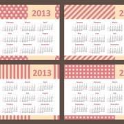 Link to2013 creative calendar collection design vector material 11
