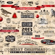 Link to2013 christmas labels and decorative accessories vector