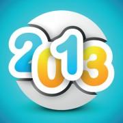 Link toCreative 2013 happy new year figures design vector set 01