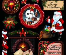 2013 Merry Christmas elements vector material set 04
