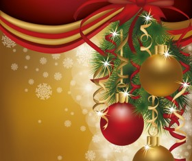 Set of  2013 Red-golden Christmas cards design vector 03