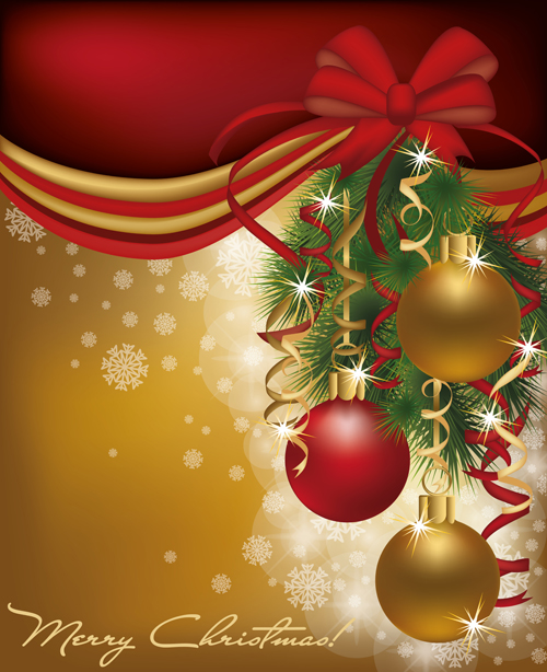 Set of  2013 Red golden Christmas cards design vector 03