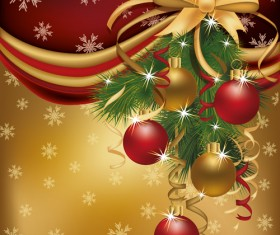 Set of  2013 Red-golden Christmas cards design vector 04