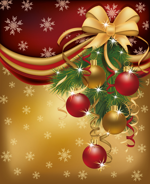 set of 2013 red golden christmas cards design vector 04 - Christmas Images For Cards