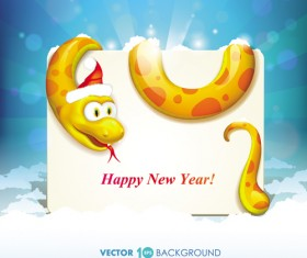 Set of 2013 Year Snake card Vector backgrounds 02