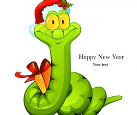 Set of 2013 Year Snake card Vector backgrounds 03