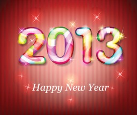 Vector set of 2013 new year design elements 01