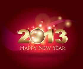 Vector set of 2013 new year design elements 02