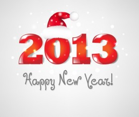 Vector set of 2013 new year design elements 03