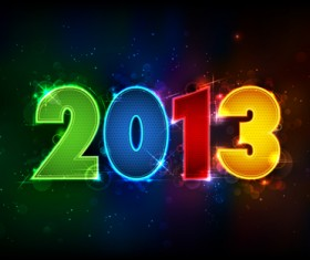 Vector set of 2013 new year design elements 04