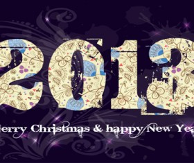 Vector set of 2013 new year design elements 05