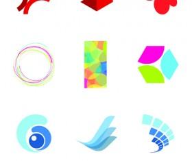 Creative 3D Logo design vector set 01