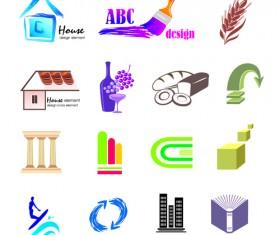 Creative 3D Logo design vector set 03