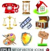 Various 3D icons mix vector graphics 01