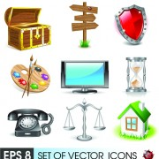 Link toVarious 3d icons mix vector graphics 02