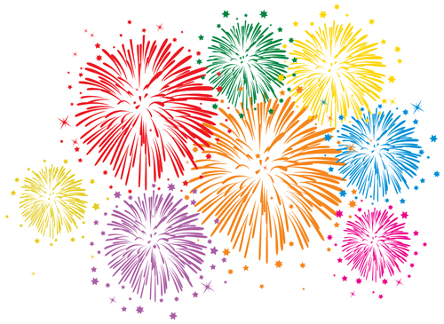 Free EPS file Set of holiday Fireworks design vector material 34 ...