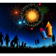 Link toSet of holiday fireworks design vector material 07