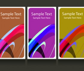Abstract backgrounds for business cards design vector 01