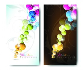 Abstract backgrounds for business cards design vector 03