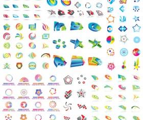 Vector set of Abstract logos material 02