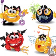 Link toDifferent adult smileys icon vector 04