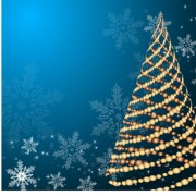 Link toSet of blue charm christmas cards vector 02