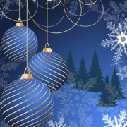Link toSet of blue charm christmas cards vector 04