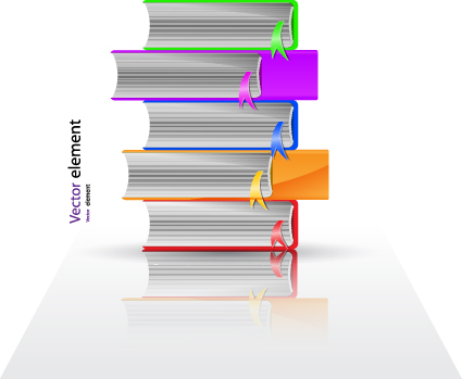 Elements of Books design vector material 01