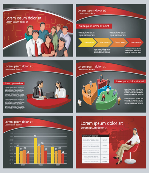 Infographic Ideas infographic template for powerpoint free : Elements of business infographics template vector material 03 ...