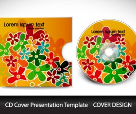 CD cover presentation vector template material 10