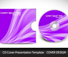 CD cover presentation vector template material 11