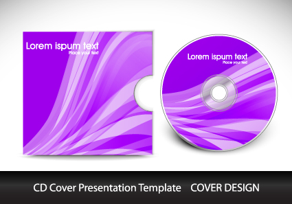 CD cover presentation vector template material 11 Vector Cover – Psd Album Cover Template