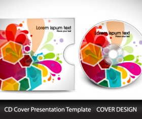 CD cover presentation vector template material 12