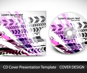 CD cover presentation vector template material 05