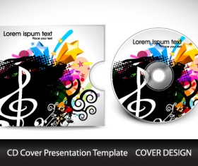 CD cover presentation vector template material 06