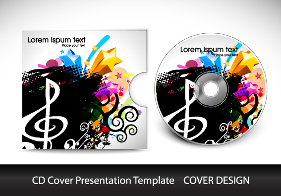 Cd Cover Presentation Vector Template Material 06 - Vector Cover