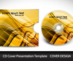 CD cover presentation vector template material 07