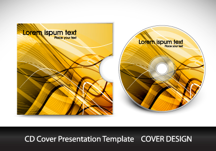Cd Cover Presentation Vector Template Material 07 - Vector Cover