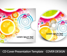 CD cover presentation vector template material 09