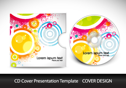 cd cover presentation vector template material 09 - vector cover, Presentation templates