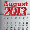 Calendar August 2013 design vector graphic 08
