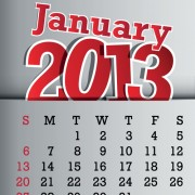 Link toCalendar january 2013 design vector graphic 01