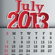 Link toCalendar july 2013 design vector graphic 07