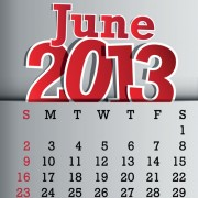 Link toCalendar june 2013 design vector graphic 06