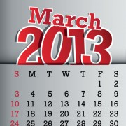 Link toCalendar march 2013 design vector graphic 03