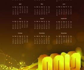 Elements of Calendar 2013 design vector art 01