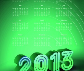 Elements of Calendar 2013 design vector art 02