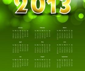 Elements of Calendar 2013 design vector art 03